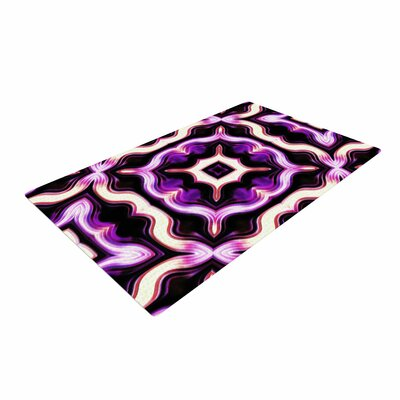 Dawid Roc Vintage Flower Pattern 2 Floral Purple Area Rug