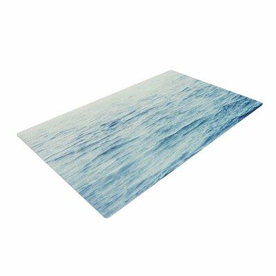 Debbra Obertanec Foggy Morning Ocean Coastal/Blue Area Rug