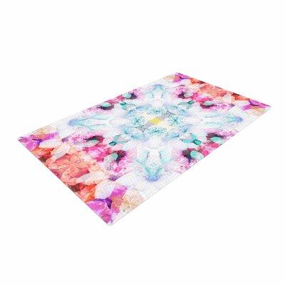 Danii Pollehn Hibiscus Kaleidoscope Pink/Blue Area Rug