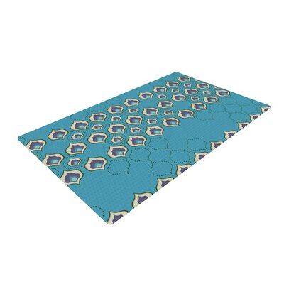 Fernanda Sternieri Happy Path Pattern Blue Area Rug Rug Size: 2 x 3