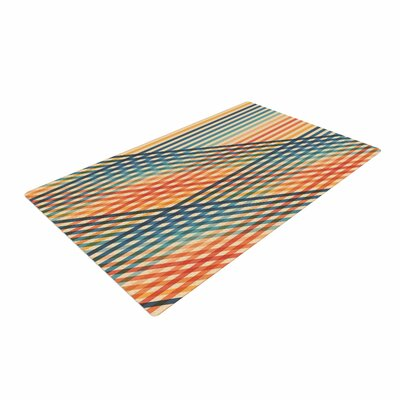 Fimbis OvrlapToo Lines Orange Area Rug