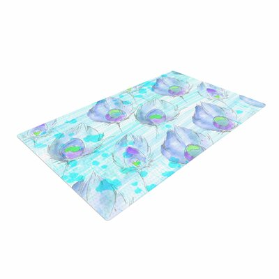 Danii Pollehn Featherdream Illustration Purple Area Rug Rug Size: 4' x 6'