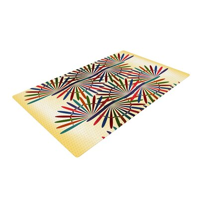 Famenxt Colorful Abstract Pattern Yellow Area Rug Rug Size: 4 x 6