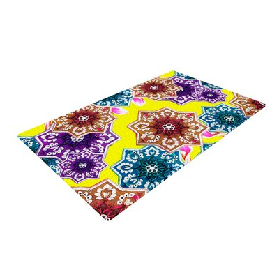 Fernanda Sternieri Flower Power Floral Yellow Area Rug