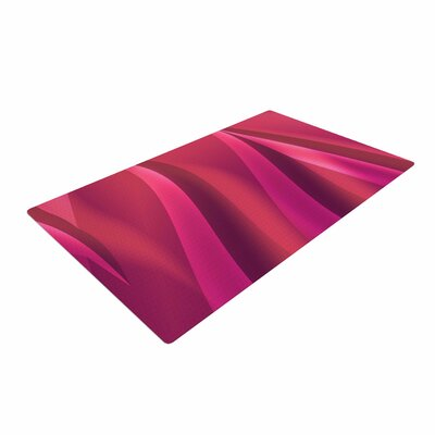 Fotios Pavlopoulos Petals Magenta/Pink Area Rug Rug Size: 2 x 3