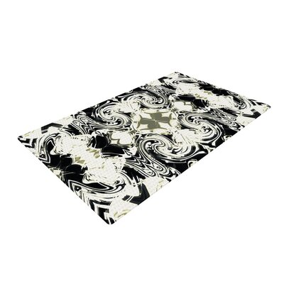 Dawid Roc the Palace Walls III Abstract White Area Rug Rug Size: 4 x 6