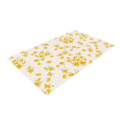 Gukuuki Kashmir Garden Yellow/White Area Rug