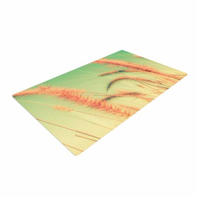 Graphic Tabby Dancing in Spring Pastel/Nature Area Rug