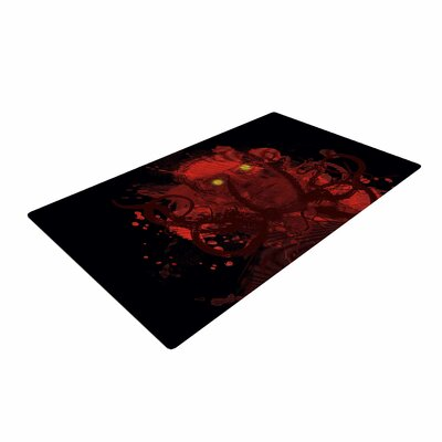 Frederic Levy-Hadida Miskatoninked Red/Black Area Rug Rug Size: 4 x 6