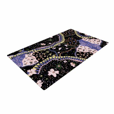 Fernanda Sternieri Oriental Patchwork Pattern Black Area Rug Rug Size: 4 x 6