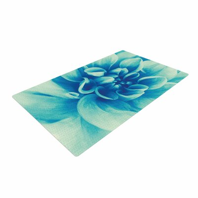 Graphic Tabby Beauty Floral Teal/Blue Area Rug