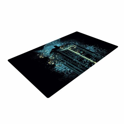 Frederic Levy-Hadida Regeneration Is Coming Blue/Black Area Rug Rug Size: 2 x 3