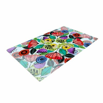 Famenxt Fresh Spring Flowers Floral Multicolor Area Rug