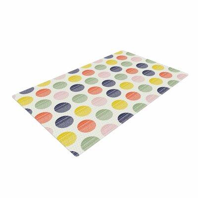 Gukuuki Rainbow Dots Vector Area Rug Rug Size: 4 x 6