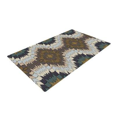 Akwaflorell Papercuts Geometric Brown Area Rug Rug Size: 2 x 3