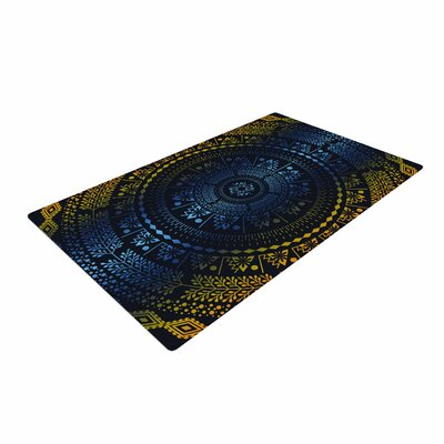 Famenxt Night Queen Boho Mandala Illustration Area Rug Rug Size: 2 x 3