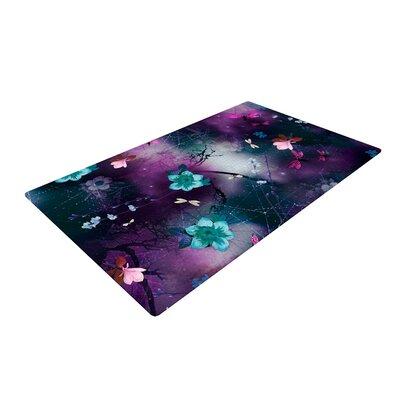 Fernanda Sternieri Fairy Tale Floral Purple Area Rug Rug Size: 2 x 3