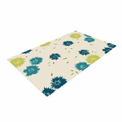 Gukuuki Mollie Teal/Beige/Blue Area Rug Rug Size: 4 x 6