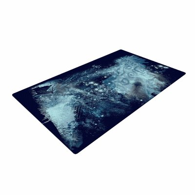 Frederic Levy-Hadida Forest Spirit Rising Fantasy Blue Area Rug Rug Size: 4 x 6