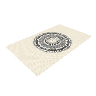 Famenxt Boho Mandala Geometric Black/White Area Rug