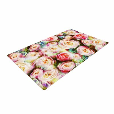 Dawid Roc Rose Romantic Gifts Photography Green/Pastel Area Rug Rug Size: 2 x 3