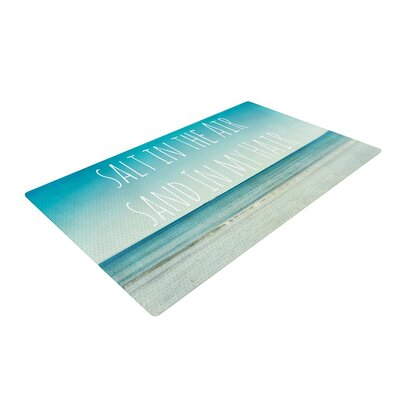 Debbra Obertanec Salt in the Air Typography Ocean Area Rug