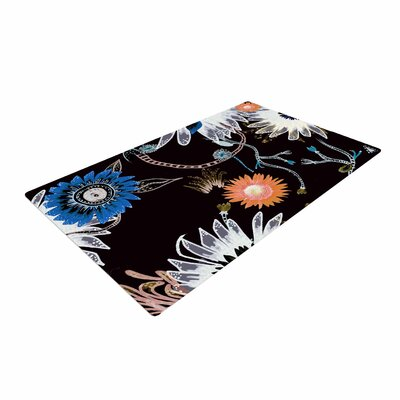 Fernanda Sternieri Dancing Flowers Abstract Orange Area Rug Rug Size: 2 x 3