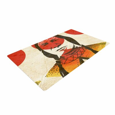 Ivan Joh Indian Red/Beige Area Rug