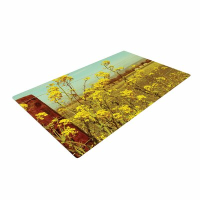 Graphic Tabby Spring Breeze Photography Yellow Area Rug Rug Size: 2 x 3