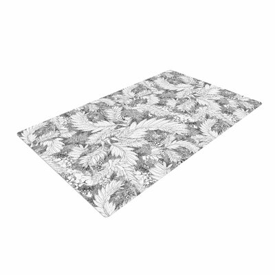 Danii Pollehn Jungle Paisley Gray/White Area Rug