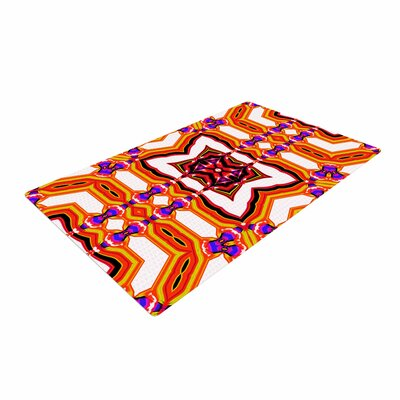 Dawid Roc Inspired By Psychedelic Art 2 Abstract Red Area Rug