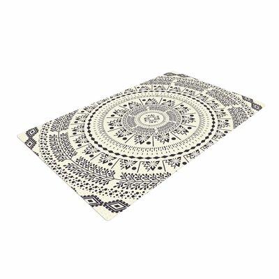 Famenxt Swadesi Soft Boho Mandala Illustration Beige Area Rug Rug Size: 4 x 6