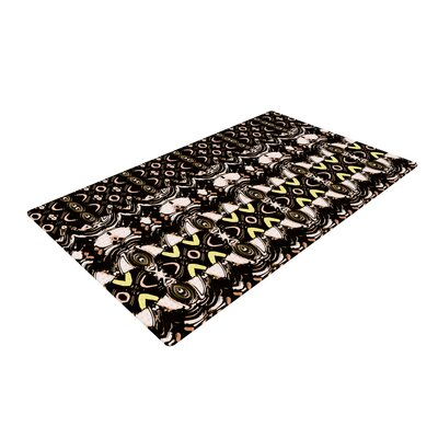 Dawid Roc the Palace Walls Brown/Black Area Rug Rug Size: 4 x 6