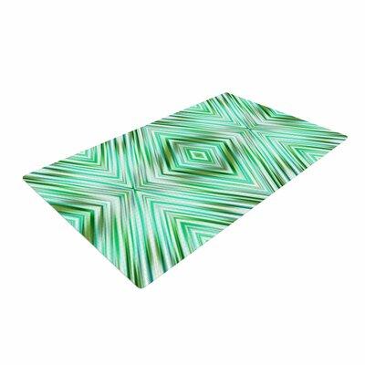 Dawid Roc Mint Modern Ethnic Geometric Green Area Rug Rug Size: 2 x 3