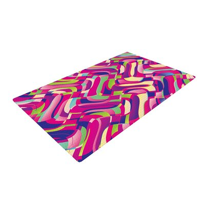 Dawid Roc Colorful Movement Abstract Pink Area Rug Rug Size: 2 x 3