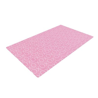 Heidi Jennings Hugs and Kisses Pattern Pink Area Rug Rug Size: 4 x 6