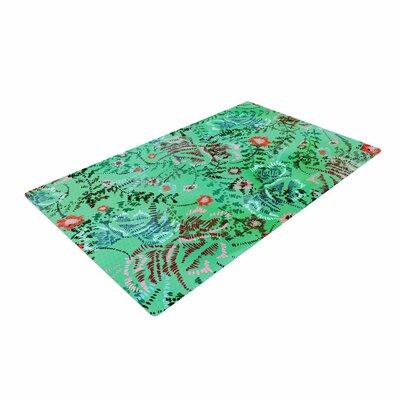 Fernanda Sternieri African Romance Floral Green Area Rug Rug Size: 4 x 6
