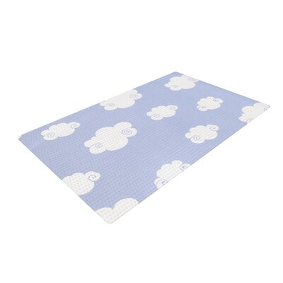 Heidi Jennings Happy Clouds White/Blue Area Rug Rug Size: 4 x 6