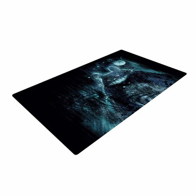 Frederic Levy-Hadida The Hidden Friend Blue/Black Area Rug Rug Size: 2 x 3