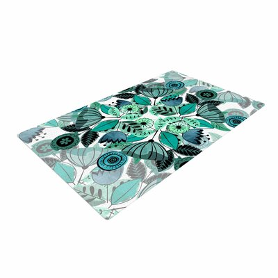 Famenxt Mint Sognare Abstract Green Area Rug Rug Size: 2 x 3