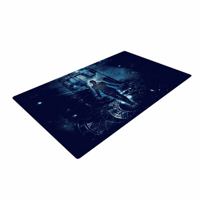 Frederic Levy-Hadida Time Traveller Fantasy Blue Area Rug Rug Size: 4 x 6