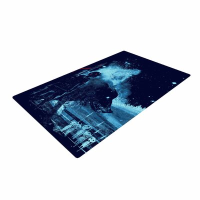 Frederic Levy-Hadida Nature Defenders Illustration Blue Area Rug