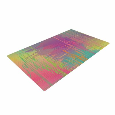 Graphic Tabby Rainbow Storm Abstract Area Rug Rug Size: 4 x 6