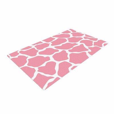 Wildlife Pink Animal Print 11 Digital White Area Rug
