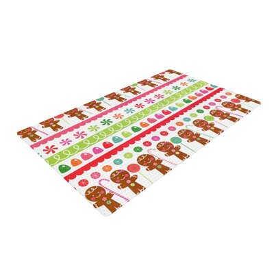 Heidi Jennnings Gumdrop Buttons Gingerbread White/Brown/Red Area Rug