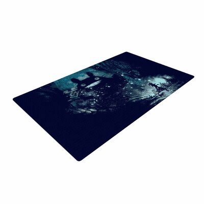 Frederic Levy-Hadida The Big Friend Fantasy Blue Area Rug Rug Size: 2 x 3