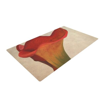Iris Lehnhardt Calla Flower Red Area Rug