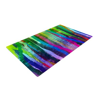 Frederic Levy-Hadida Jungle Stripes Painting Green Area Rug