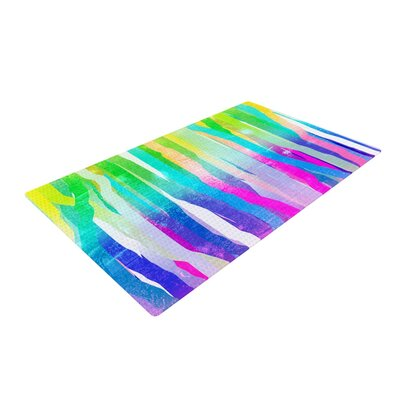 Frederic Levy-Hadida Jungle Stripes Pastel Painting Multicolor Area Rug
