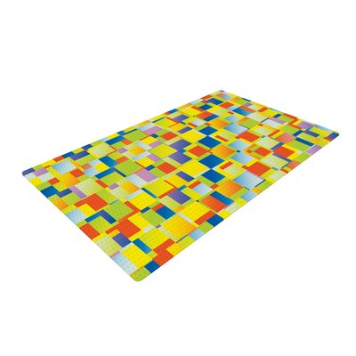 Dawid Roc Multi Color Blocking Geometric Yellow Area Rug Rug Size: 4 x 6